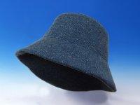 軽くてムレないシルクの帽子「ワンサブリナ」オックスフォードブルー